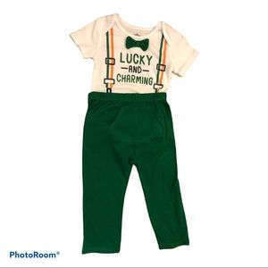 Boys set Lucky AND Charming 18 months